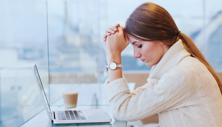 Woman-upset-Just-one-in-ten-people-would-tell-their-boss-about-a-mental-illness-How-to-look-after-your-mental-health-at-work-Healthista-main